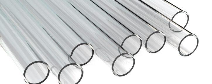 Transparent plastic tubes