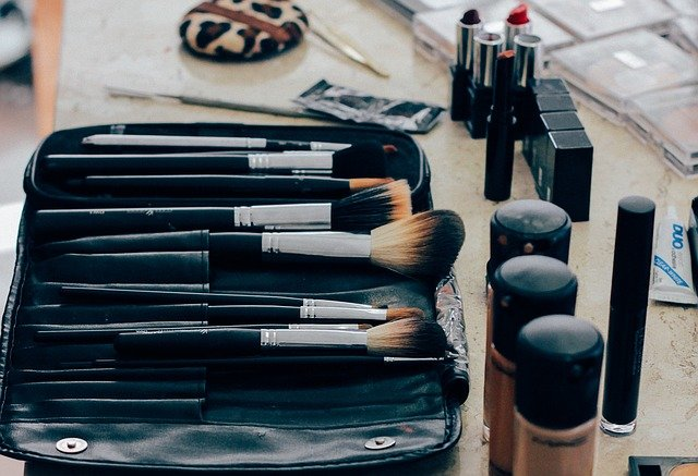 makeup brushes and other cosmetics